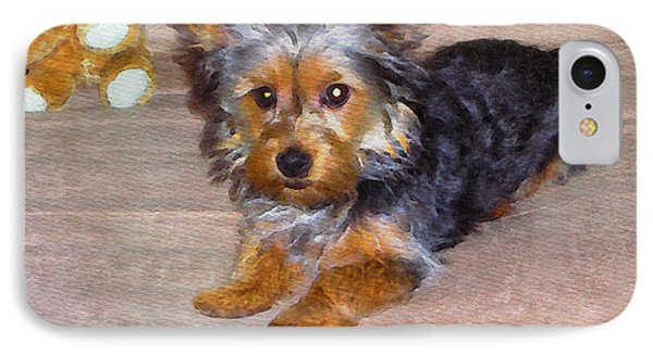 Silky Terrier - Watercolor IPhone Case