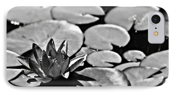 Silver Waterlily IPhone Case