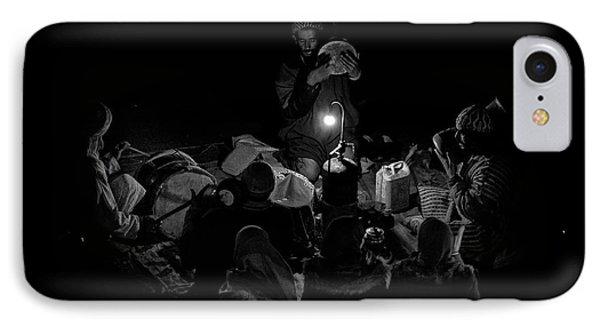 Drum iPhone 8 Case - Singing To The Night by Angel Bernaldo De