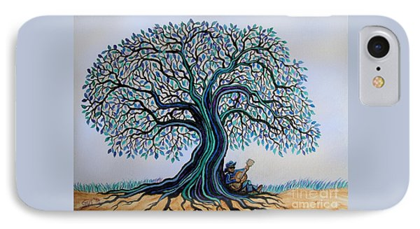Singing Under The Blues Tree IPhone Case