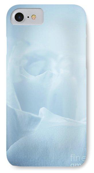 Single White Rose Blue Tint IPhone Case