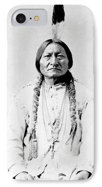 American iPhone 8 Case - Sioux Chief Sitting Bull by War Is Hell Store