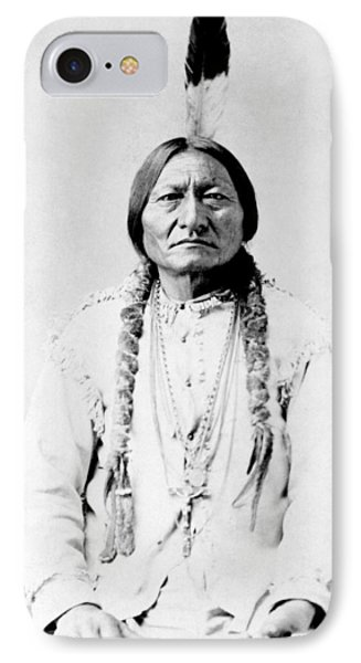 Bull iPhone 8 Case - Sioux Chief Sitting Bull by War Is Hell Store