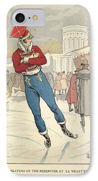 Skating At La Villete IPhone Case