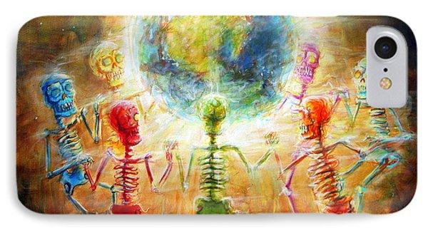 Skeleton Peace Ring IPhone Case