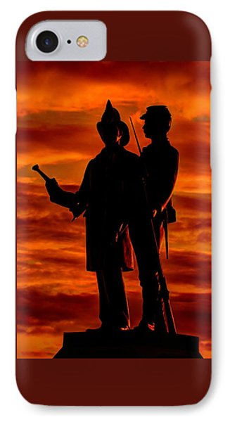 Sky Fire - 73rd Ny Infantry Fourth Excelsior Second Fire Zouaves-b1 Sunrise Autumn Gettysburg IPhone Case