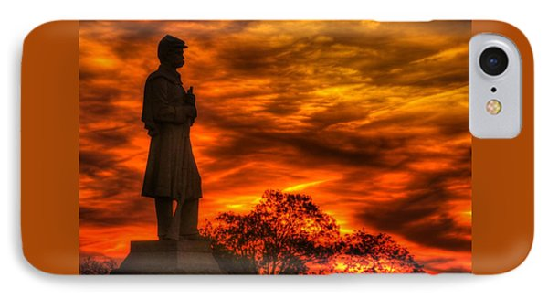 Sky Fire - West Virginia At Gettysburg - 7th Wv Volunteer Infantry Vigilance On East Cemetery Hill IPhone Case