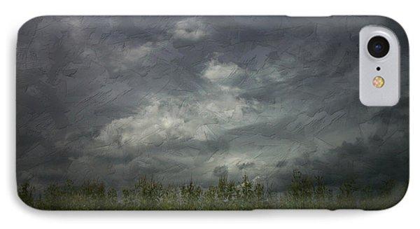 Sky With Cornfield IPhone Case