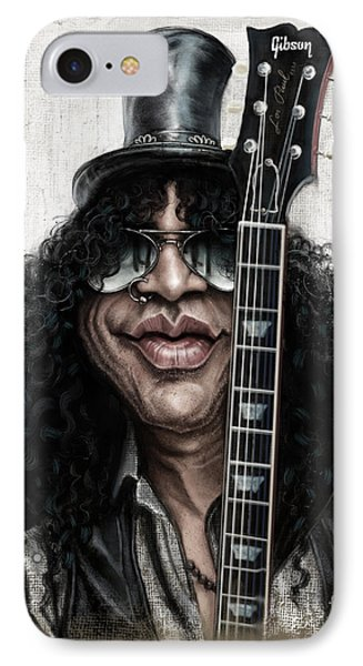 Musicians iPhone 8 Case - Slash by Andre Koekemoer