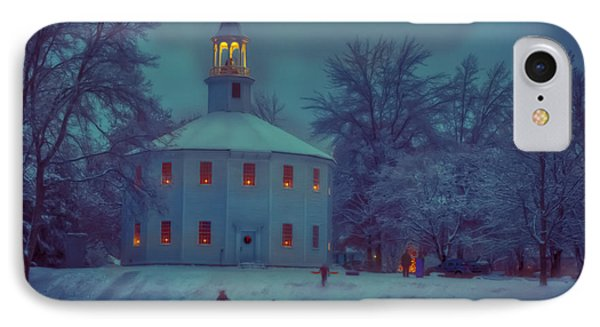 Sledding At The Old Round Church IPhone Case