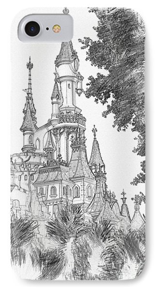 Sleeping Beauty Castle IPhone Case
