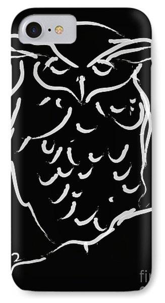 Sleepy Owl IPhone Case