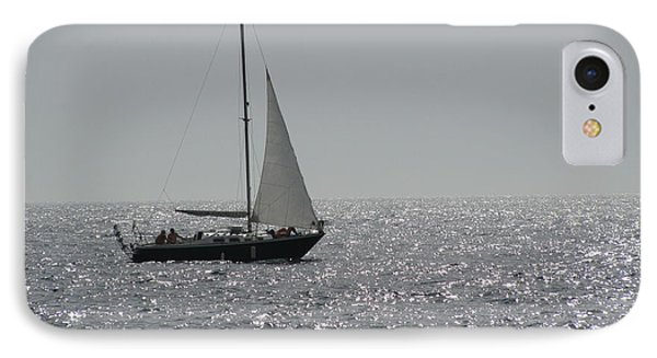 Small Boat At Sea IPhone Case