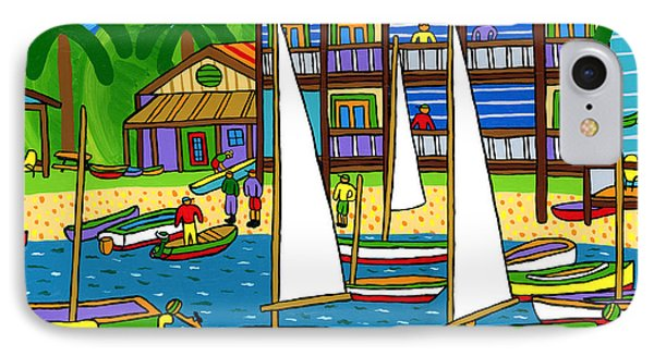 Small Boat Regatta - Cedar Key IPhone Case