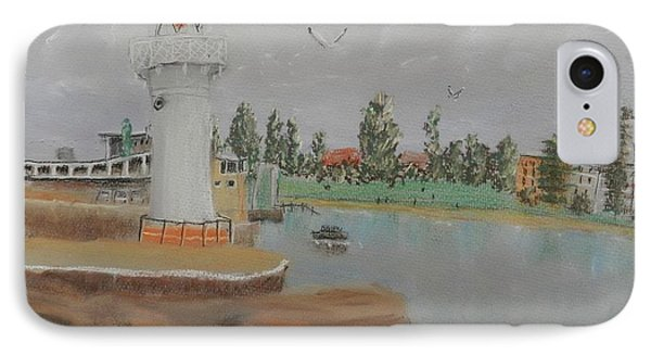 Small Lighthouse At Wollongong Harbour IPhone Case