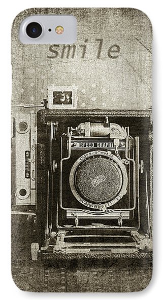 Smile For The Camera - Sepia IPhone Case