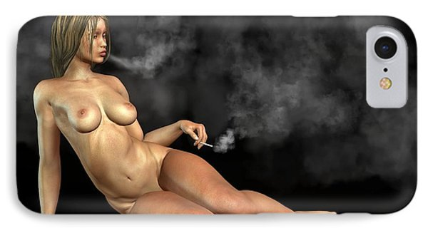 Smoking Nude IPhone Case