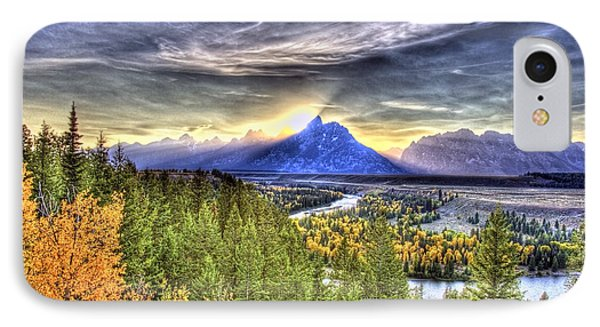 Snake River Over Look Fall Sunset IPhone Case