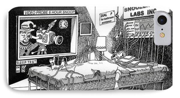 Snoozer Sleep Lab Study IPhone Case