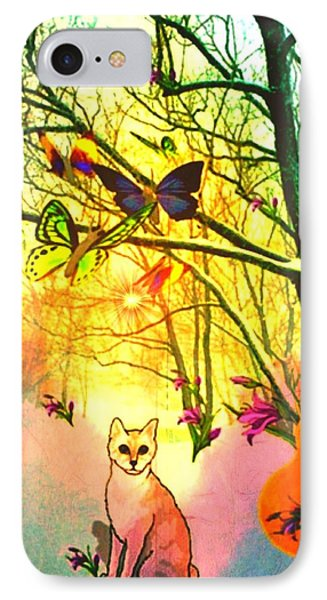 Snow And Butterfly Dreams IPhone Case