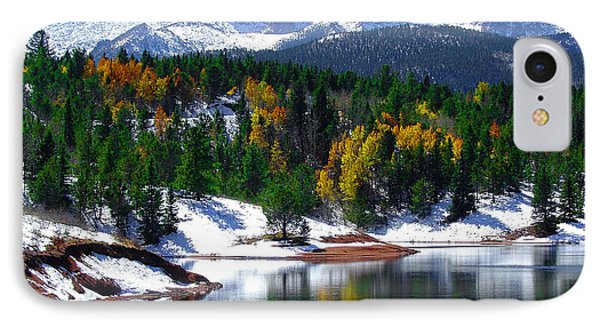 Snow Capped Pikes Peak At Crystal  IPhone Case