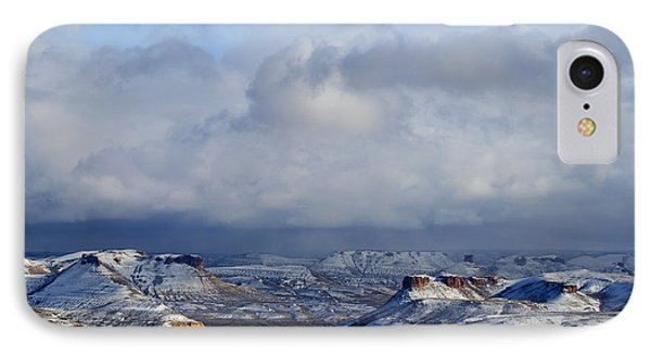 Snow Clouds Over Flaming Gorge IPhone Case