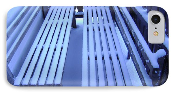Snow Covered Bench IPhone Case