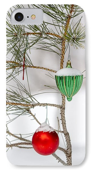 Snow Covered Christmas Ornaments IPhone Case
