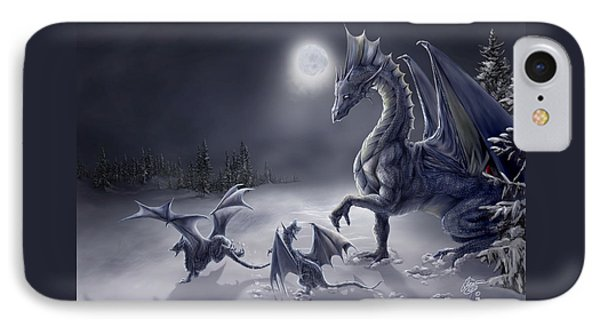 Dragon iPhone 8 Case - Snow Day by Rob Carlos