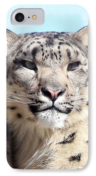 Snow Leopard Portrait IPhone Case