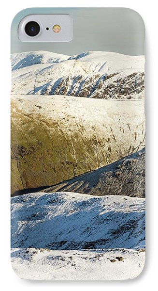 Snow On The High Street Fells IPhone Case