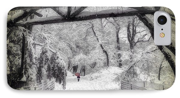 Snow Scene In Central Park IPhone Case