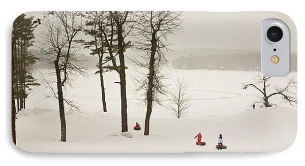 Snow Tubing In The Poconos IPhone Case