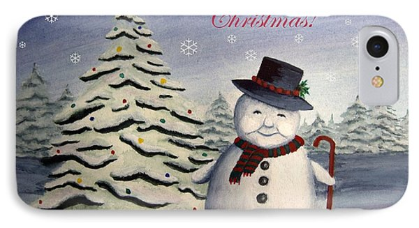 Snowman's Christmas IPhone Case
