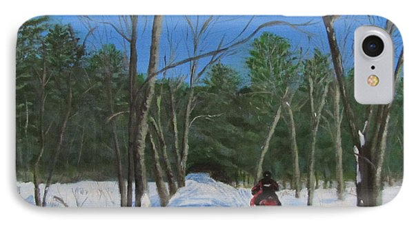 Snowmobile On Trail IPhone Case