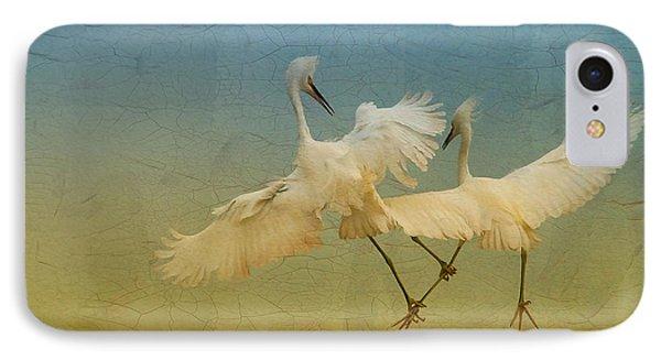 Snowy Egret Dance IPhone Case