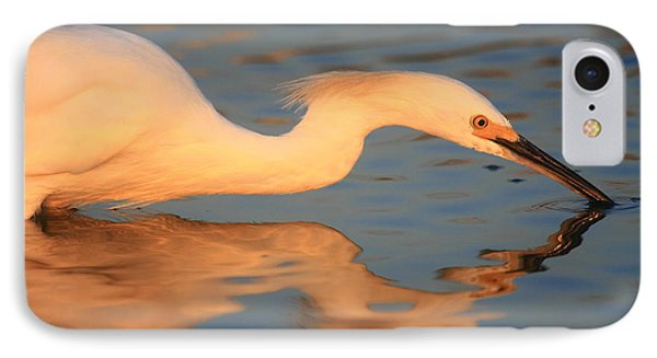 IPhone Case featuring the photograph Snowy Egret Mirror by John F Tsumas