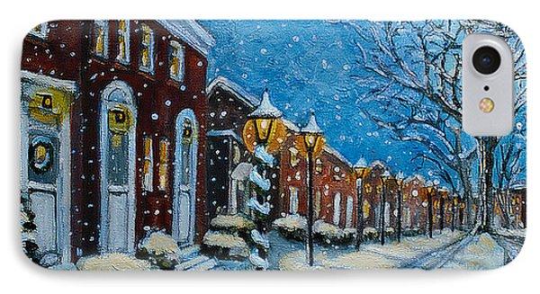 Snowy Evening In Garden Crest IPhone Case