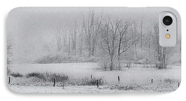 Snowy Fields IPhone Case