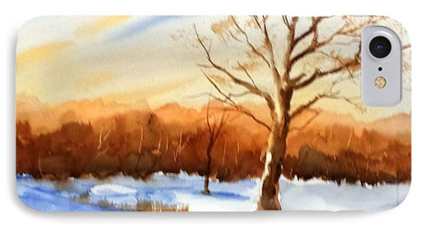 Snowy Indiana Sunset IPhone Case
