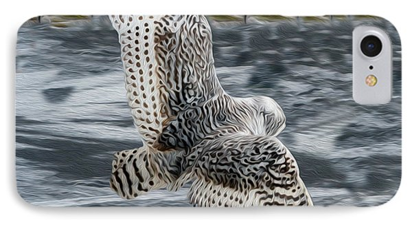 Snowy Owl Wingspan IPhone Case
