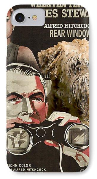 Soft-coated Wheaten Terrier  - Wheaten Terrier Art Canvas Print - Rear Window Movie Poster IPhone Case