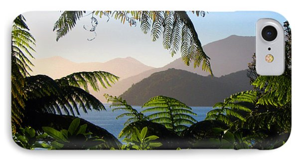 Soft Sun On Hills Through Ferns IPhone Case