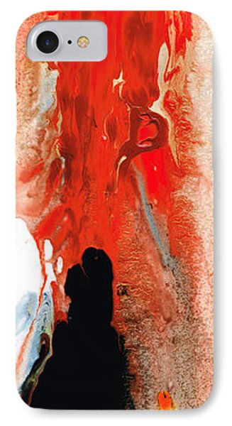 Solitary Man - Red And Black Abstract Art IPhone Case