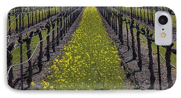 Mustard iPhone 8 Case - Sonoma Mustard Grass by Garry Gay