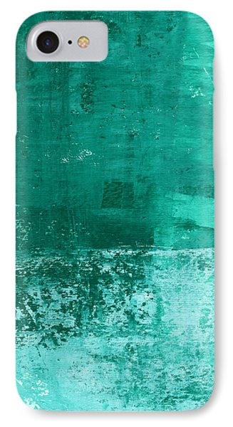 Wood iPhone 8 Case - Soothing Sea - Abstract Painting by Linda Woods