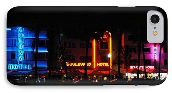 South Beach Hotels IPhone Case