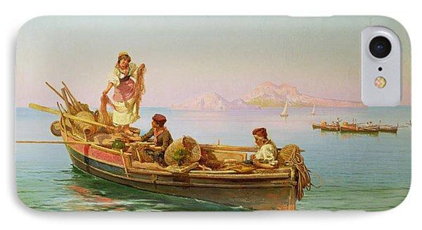 South Italian Fishing Scene IPhone Case