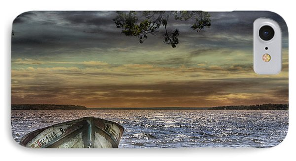 South Manistique Lake With Rowboat IPhone Case