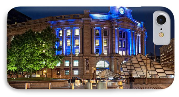 South Station In Blue - Boston IPhone Case